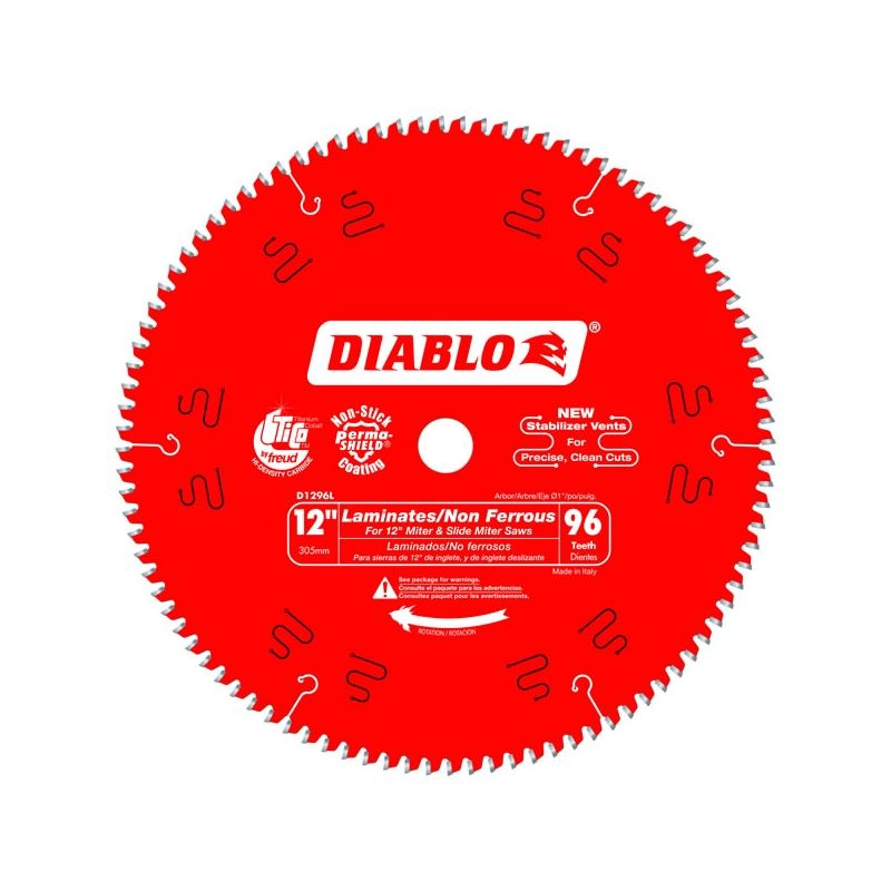 Diablo D1296l 12 In X 96 Tooth Laminate Melamine