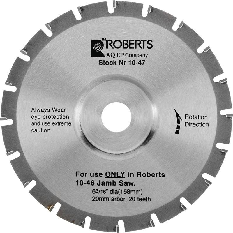 Roberts 6-3/16 In. 20-Tooth Carbide Tip Jamb Saw