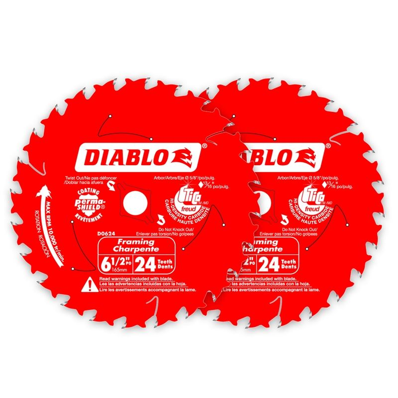 DO624PX Double Pack 6‑1/2 in. x 24 Tooth Framing T