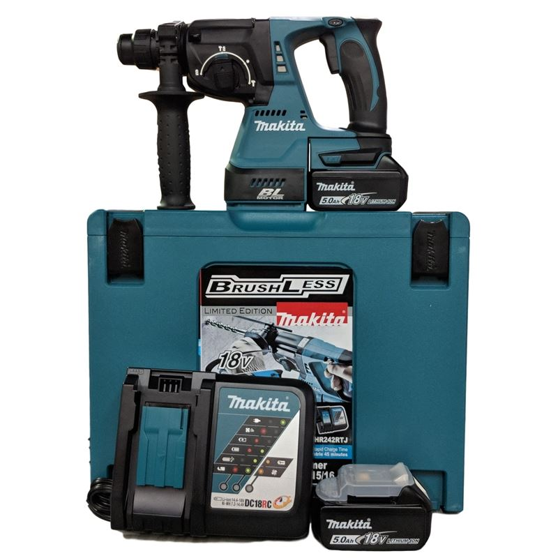 """DHR242RTJ 15/16"""" Cordless Rotary Hammer with Brush"""