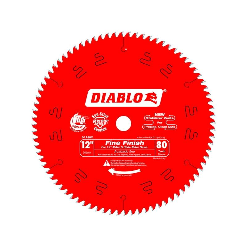 Diablo D1280x 12 In X 80 Tooth Fine Finish Saw Blade